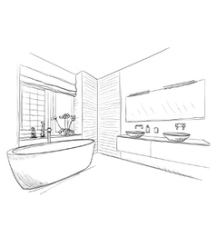 Hand drawn bathroom vector