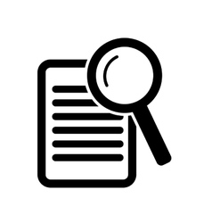 Paper with magnifying glass vector