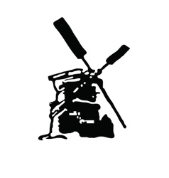 Hand drawn black and white mill shape vector image