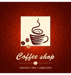 Template of coffee shop vector