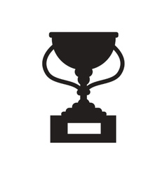Flat icon in black and white football cup vector