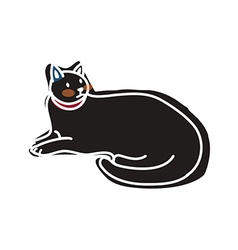 A cat is sitting vector
