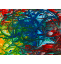 Abstract bright green blue red yellow vector