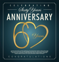 60 years anniversary background vector