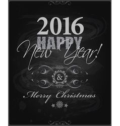 2016 happy new year and card merry christmas card vector