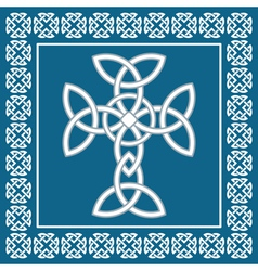 Celtic crosssymbolizes eternity vector