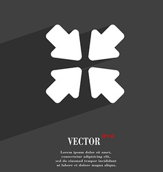 Turn to full screen icon symbol flat modern web vector