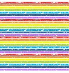 Seamless cute rainbow background vector