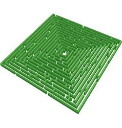 3d green maze vector image