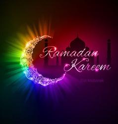 Greeting card of holy muslim month ramadan vector