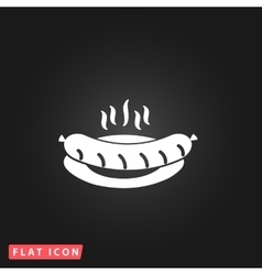 Sausage on a plate vector