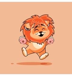 Lion cub rejoices vector