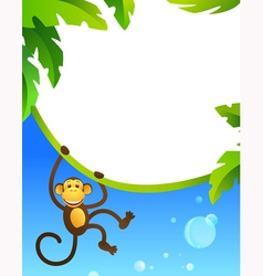 Frame with monkey vector