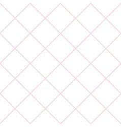 Pink grid white diamond background vector