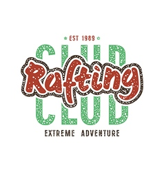 Rafting club emblem in retro style vector