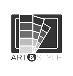 art and style in flat design vector image vector image