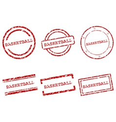 Basketball stamps vector image vector image