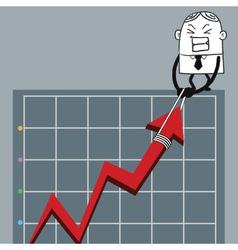 Busines man up graph vector
