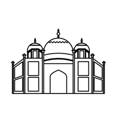 Catedral rome isolated icon vector