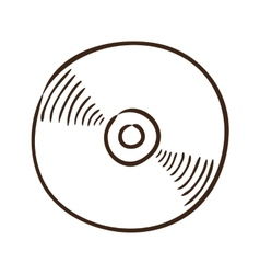 CD or DVD symbol vector image