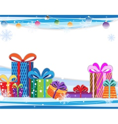 Christmas gifts and decoration vector image vector image