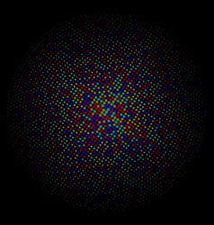 Colorful circle of dots on a black background vector