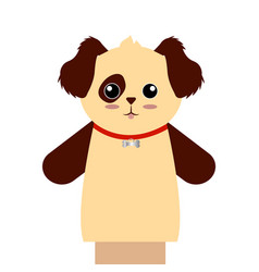 Cute puppet animal vector