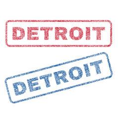 Detroit textile stamps vector