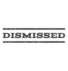 Dismissed Watermark Stamp vector image vector image