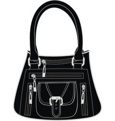 Fashionable leather handbag vector