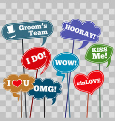 Funny weddings phrases vector