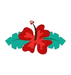 Hawaiian flower natural icon vector