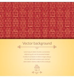 Houses pattern for template card vector image