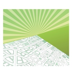Isometric map vector image