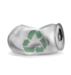 Jammed aluminum can vector