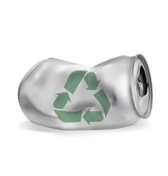 Jammed aluminum can vector