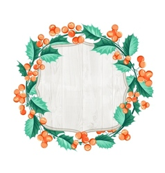 Merry christmas wreath vector image vector image