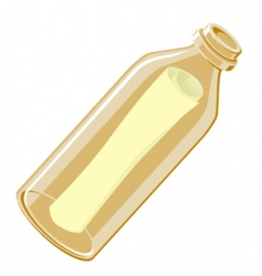 Message in a bottle vector