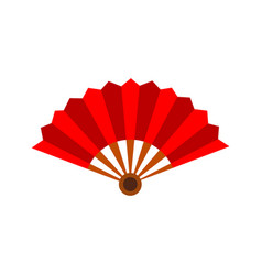 Paper hand fan graphic vector