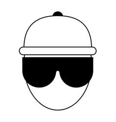 Person wearing big sunglassesicon image vector