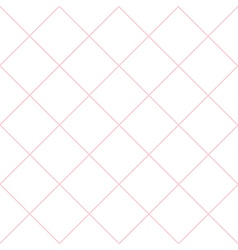 Pink Grid White Diamond Background vector image vector image