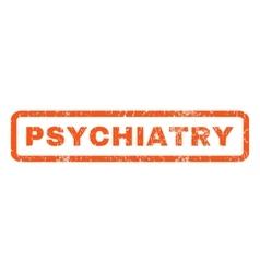 Psychiatry rubber stamp vector