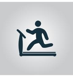 Running treadmill vector