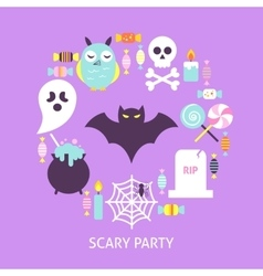 Scary party trendy poster vector