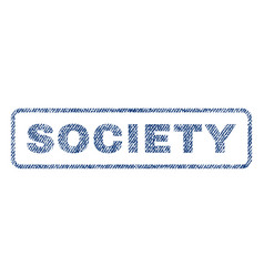 Society textile stamp vector