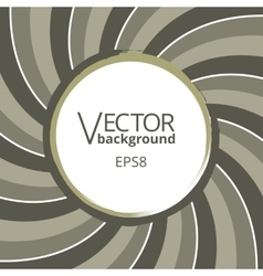 Swirling radial vortex background with round blank vector image