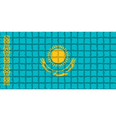 The mosaic flag of Kazakhstan vector image vector image