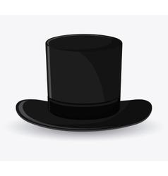 Top hat cloth accesory design vector