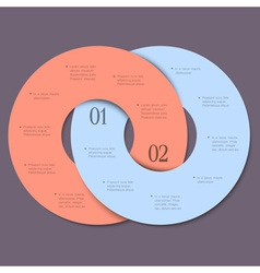 Two circles trendy design template for vector image