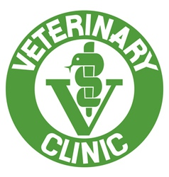 Veterinary clinic symbol vector